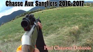 Chasse Aux Sangliers 2016-2017 - Tir De Plusieurs Sangliers !!