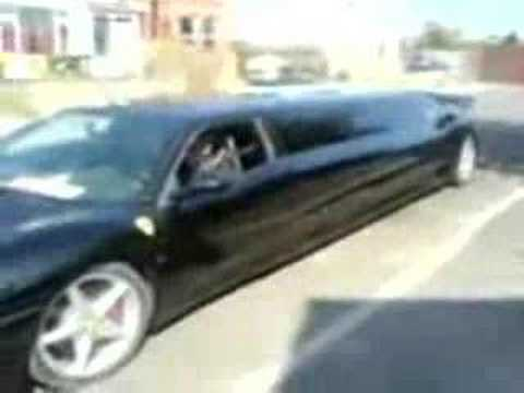 ferrari F1 360 limo in motion!!! Getaway of the monster.