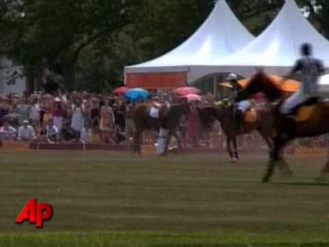 Raw Video: Prince Harry Falls Off Horse