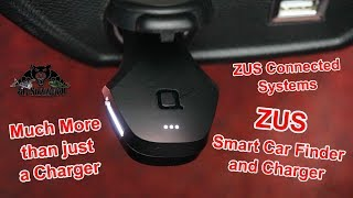 ZUS Connected Systems Smart Car Finder Dual USB Car Charger