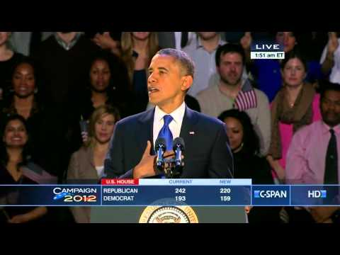 President Obama 2012 Victory Speech (C-SPAN)