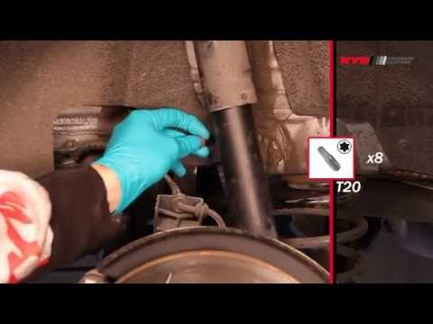 How to Replace Shocks & Springs on VW Jetta 6. Golf V. VI; Seat Alhambra. Leon. Toledo