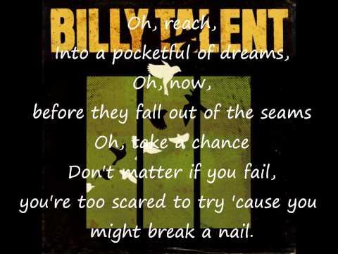 Billy Talent Pocketful of Dreams Lyrics HQ