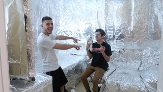 ALUMINUM FOIL ROOM PRANK ON FaZe RUG!