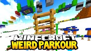 Minecraft WEIRD PARKOUR! (New Jumps & Weird Parkour!) W/Lachlan & PrestonPlayz