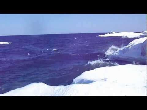 Lake Superior; Sea Ice Cracking; Houghton, MI