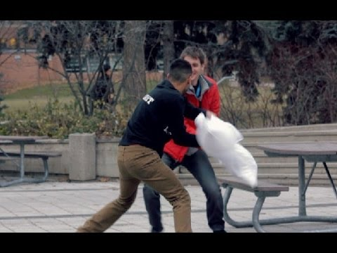 Pillow Fight Prank! video