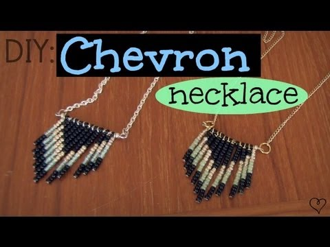 DIY: Chevron Necklace