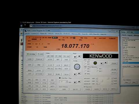 Kenwood TS-480 Remote Operation. (LU4FPZ)