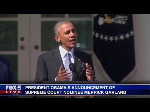 President Obama announces Supreme Court nominee Merrick Garland