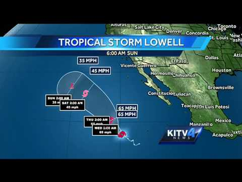 Tracking 2 tropical storms in the Pacific