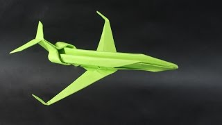 How to make a Gulfstream paper airplane.