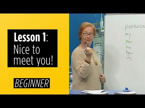 Beginner Levels - Lesson 1: Nice To Meet You!