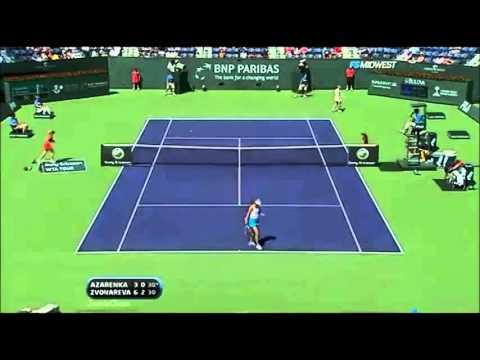 Victoria Azarenka vs Vera Zvonareva 2009 Indian Wells Highlights