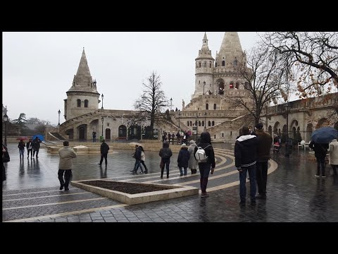 "4K Walk - Budapest, Hungary ""Fisherman's Bastion next to Buda Castle"""
