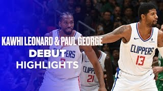 Kawhi Leonard (17 PTS) and Paul George (25 PTS) Clippers Debut Highlights vs. Celtics