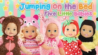 Little Mommy BABY Five Little Monkeys JUMPING ON THE BED ♥Toy Nursery Rhyme♥ Kids Songs Baby Songs
