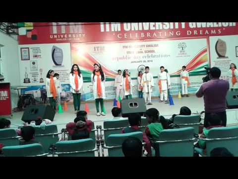 Skit on fundamental rights and duties at ITM Global School, Gwalior, India