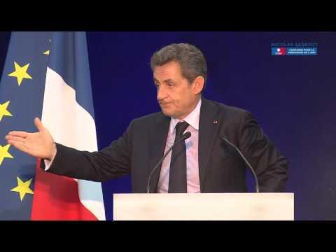 Nicolas Sarkozy en meeting à Boulogne-Billancourt
