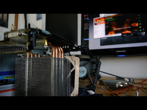 CPU cooler on GPU (INSANE temps!)
