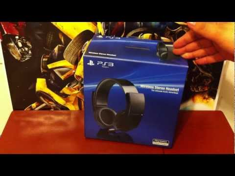 Sony PS3 Wireless Stereo Headset 7.1 Virtual Surround Sound Unboxing/Review