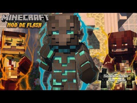 ⚡ MOD DE FLASH | Speedster Heroes MOD Minecraft 1.12 | Flash, SAVITAR, ZOOM, Kid Flash Y MUCHOS MÁS
