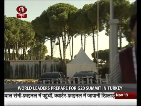 G 20 Summit to begin in Turkey from Sunday
