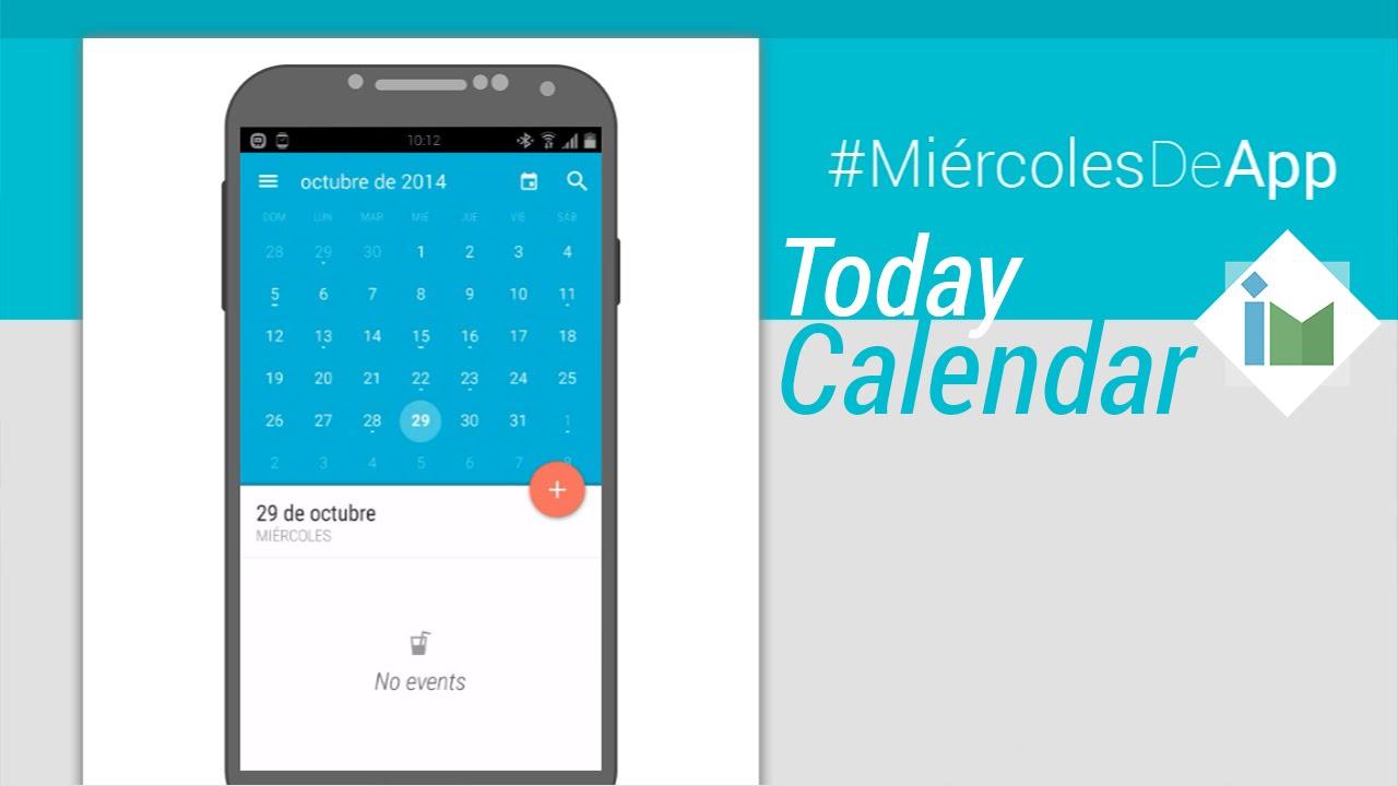 Calendar Material Design Javascript : Today calendar el mejor calendario con material design