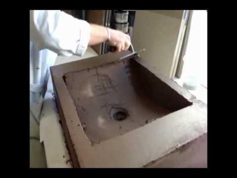 Aanbrengen stuc deco op wasbak youtube - Een badkamer deco ...