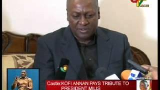 Kofi Annan Pays Tribute To Late President Mills
