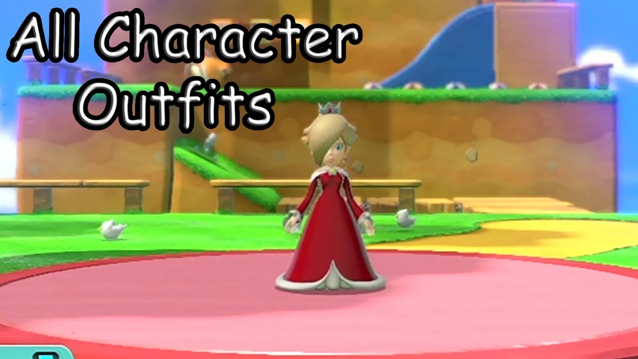 super mario 3d world all character outfits youtube