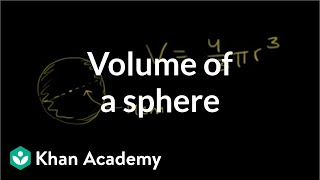 Volume of a sphere | Perimeter, area, and volume | Geometry | Khan Academy
