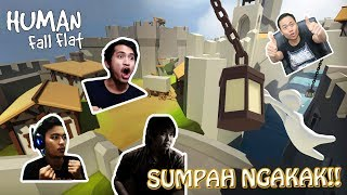 KOCAK!! 4 YOUTUBER JADI MANUSIA LETOY !! [part 1] - Human Fall Flat Indonesia
