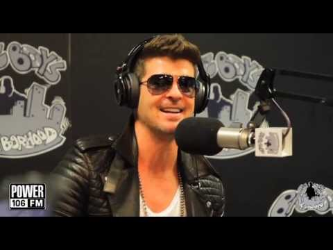 ROBIN THICKE speaks on Pharrell and T.I.'s goofy dance moves