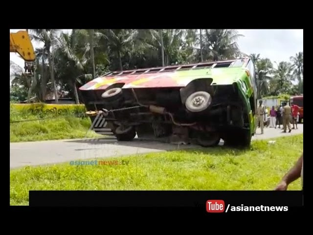 private bus accident at Palakkad, Kannadi