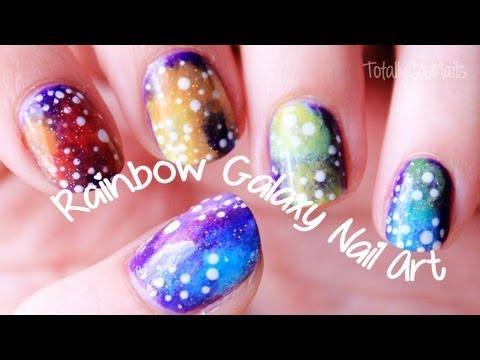 Rainbow Galaxy Nail Art