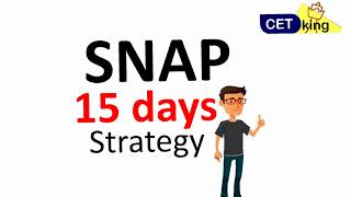 15 days left SNAP 2017. Target 99%ile strategy planning video
