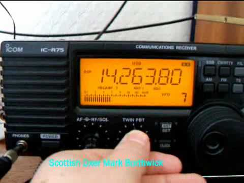 Ham Radio DX On 20m Received In Scotland With  Icom IC-R75