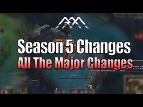Season 5 Changes - All The Major Changes - League of Legends