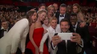Ellen DeGeneres Takes Group Selfie at Oscars 😍 hilarious moment