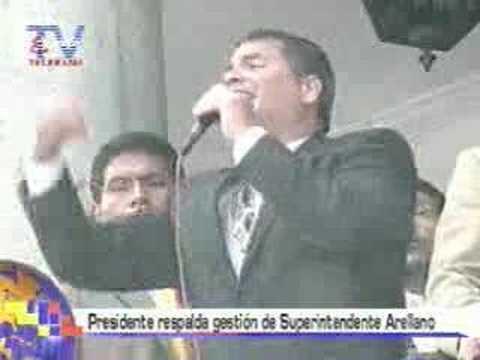 Presidente respalda gestión de Superintendente Arellano