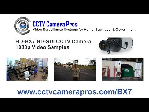 HD-BX7 Box HD-SDI CCTV Camera 1080p Surveillance Video Samples