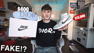 I Bought The Most Expensive FAKE Sneakers In The World (Dior Jordan 1)