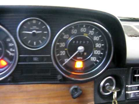 1975 Mercedes Benz 300D EXTREME -20F Cold Start Winter W115 OM617