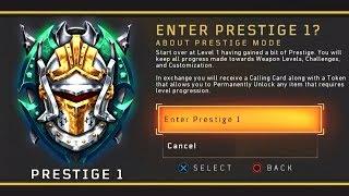 Black Ops 4: 1st Prestige (WHAT HAPPENS?)