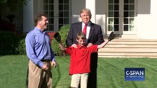 11-year-old gets to mow lawn at the White House (C-SPAN)