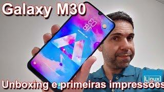 Samsung Galaxy M30 - UNBOXING e primeiras impressões