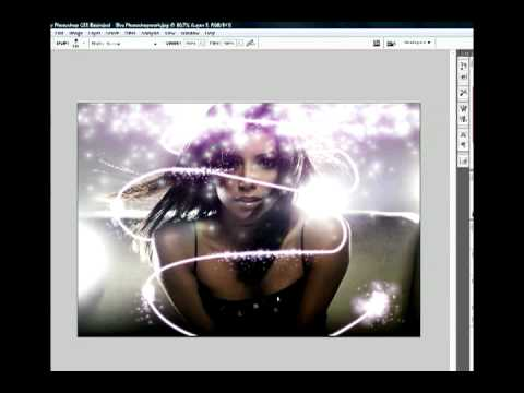 Photoshop Re-touching *Eva Longoria* Lighting Effects Video