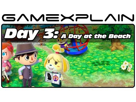 Animal Crossing: New Leaf - Day 3: A Day at the Beach (3DS Video Preview)