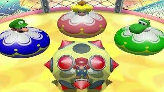 Mario Party 4 Mini Games - Mario Vs Luigi Vs Peach Vs Yoshi (Master CPU)